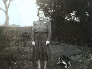 Jeannie with ACW's dog, a frequent Bottesford Station visitor 1939 onwards. | Copyright Dr Rebecca Matthews