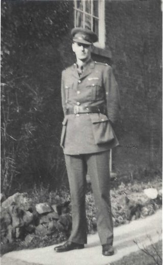 A.C.Wright, promoted to Major 1953, outside the front of The Ferns, Bottesford | Copyright Dr Rebecca Matthews
