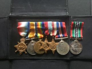 A.C.Wright's medals from WW1 and WW2 – the last on the right was a POW medal issued by the Red Cross | Copyright Dr Rebecca Matthews